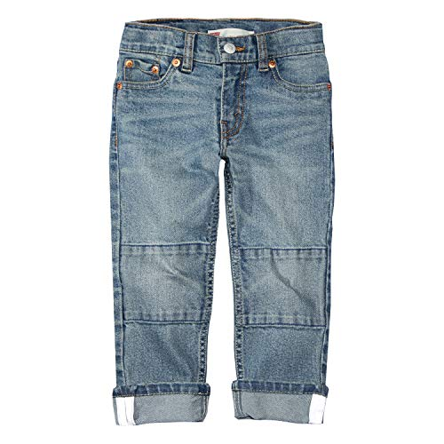 Levi's Boys' Toddler 511 Slim Fit Double Knee Jeans, Wipe Out Out, 2T ()
