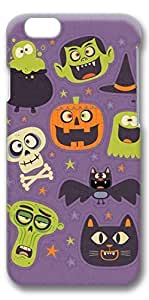 iphone 6 4.7 Case, Customized Slim Protective Hard 3D Case Cover for Apple iphone 6 4.7- Halloween Bg