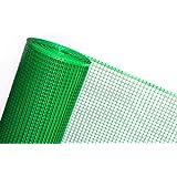 Clôture en maille plastique 0,6m Largeur Idéal comme Clôture de jardin/clôture treillis soutien Construction/Site/volaille Run Clôture (Prix au mètre) en plastique vert