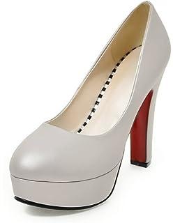 9147cb1a5c0f7 Aisun Femme Rétro Basses Boucles Escarpins  Amazon.fr  Chaussures et ...
