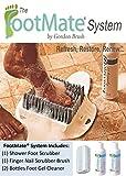 FOOTMATE® Shower & Bath Foot Scrubber Brush Feet Cleaning Kit (w) 2 Bottles of Foot Gel Cleaner & Finger Nail Brush