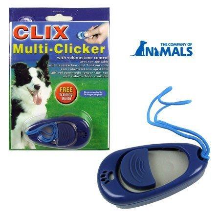Company of Animals 886284257602 Mehrfach-Klicker mit Lautstärke- und Tonregler für Hundetraining