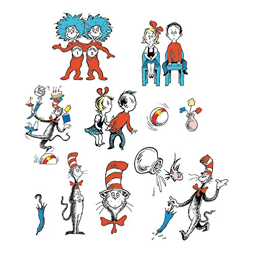 Dr. Seuss Character Bulletin Board Cutouts - Dr Seuss Party Ideas