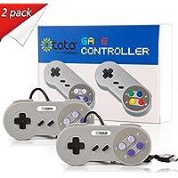 2 Pack SNES Retro USB Super NES Controller,KIWITATA Super Classic SNES USB Controller Gamepad Joystick for Windows PC…