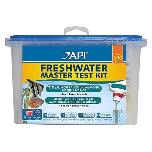 Fish Kit - API FRESHWATER MASTER TEST KIT 800-Test Freshwater Aquarium Water Master Test Kit