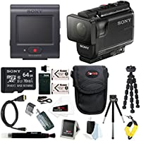 Sony HDR-AS50R Full HD 1080p Action Cam Camcorder w/ 64GB MicroSD Card & Battery Pack Bundle