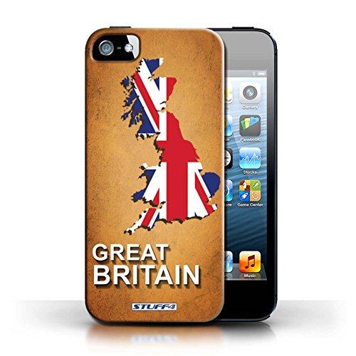 Kobalt® Imprimé Etui / Coque pour Apple iPhone 5/5S / grande-Bretagne conception / Série Drapeau Pays