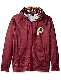 Zubaz NFL Washington Redskins - Sudadera con Capucha de Camuflaje con Cierre Completa, tamaño Mediano, Color Burdeos
