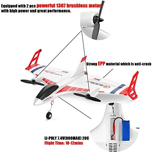 XK X520 2.4G 6CH 3D/6G Helicopters Vertical Takeoff Land Delta Wing RC Glider by SANNYSIS (Image #4)