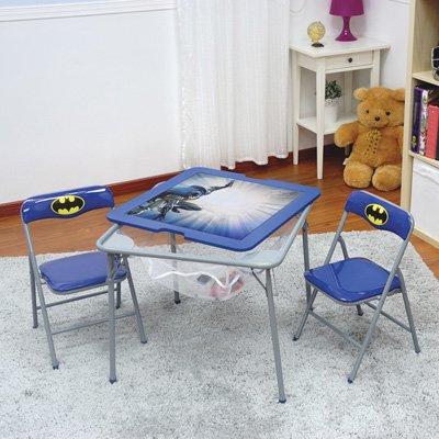 O'Kids 0112019 Batman Children's Metal Flip Top Table and Chair Set, 19