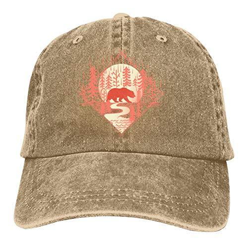 (Moon Bear Baseball Caps Unisex Washed Cotton Natty Cowboy Adjustable Hat)