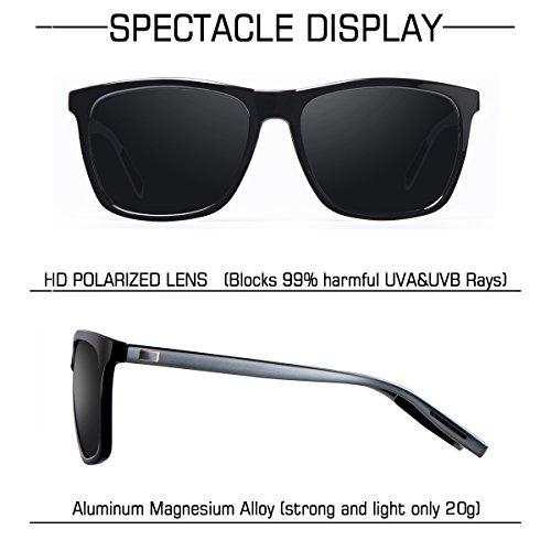 Hombre Mujer UV400 de WP2003 A wearPro Gafas Negro para y Protección Retro Wayfarer Clásico Polarizadas Sol qwxv148w