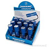Silverline 319886 6-LED Metal Torch 3 x AAA Batteries Display Box of 12 by Silverline