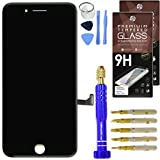 "DIY Black iPhone 7 Plus Screen Replacement 5.5"" LCD Touch Screen Digitizer Assembly Set + Premium Glass Screen Protector + Free Repair Tool Kit"