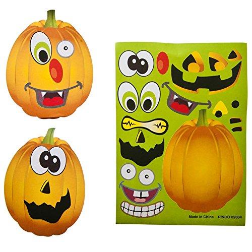 Make A Jack-O-Lantern Sticker Face 12 pack (4 packs per order)