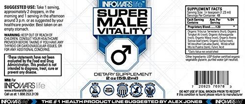 Super Male Vitality (2 oz) – Natural Stamina, Endurance & Strength Boother – Vegan, Non-GMO & Gluten Free Liquid Drops