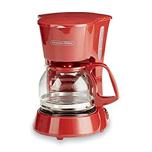 4 Cup Red Coffee Maker Small Kitchen Spaces Single Serving Coffeepot