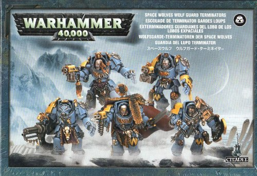 Games Workshop Wolf Guard Space Marine Terminator Squad Warhammer - Space 40k Warhammer Marine