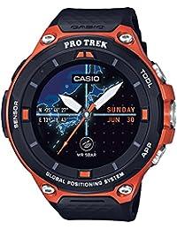 Men's 'Pro Trek' Quartz Resin Outdoor Smartwatch, Color:Orange (Model: WSD-F20-RGBAU)