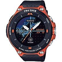 Casio Men's 'PRO TREK' Quartz Resin Outdoor Smartwatch, Color:Orange (Model: WSD-F20-RGBAU)