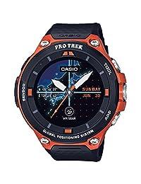 Casio Men's 'PRO TREK' Quartz Resin Sport Watch, Color:Orange (Model: WSD-F20-RGBAU)