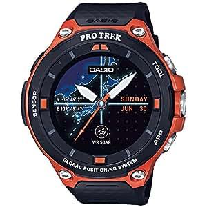 Casio Men's 'Pro Trek' Resin Outdoor Smartwatch, Color:Orange (Model: WSD-F20-RGBAU)
