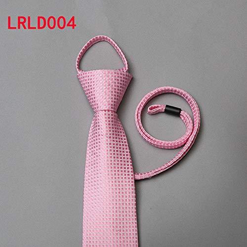 xiaoqing Corbata de cuerda de 7 cm de negocios fácil de tirar con ...