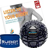 Buddy Dynamics Deep Tissue Massage Ball - Excellent Trigger Point Massage, Helps with Pain Relief, Sore Muscles - Therapy Ball with Resistance Band Included