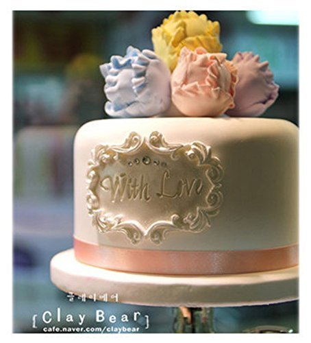 plaque MOLD 2005 Sugarcraft Molds Polymer Clay Cake Border Mold Soap Molds Resin Candy Chocolate Cake Decorating Tools