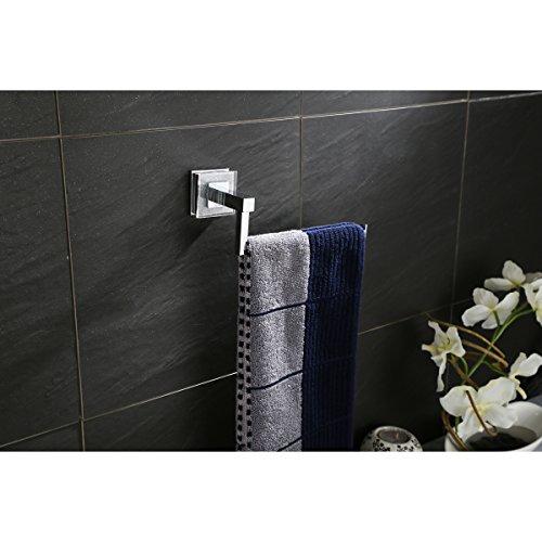 Ruvati RVA5005 Valencia Towel Ring Luxury Bathroom Accessory, Crystal and Chrome by Ruvati (Image #2)
