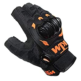 Vocado Orange Delhi Traderss Mc45q Bike Riding Half Finger Ktm Gloves (Set of 2)