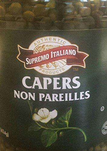 Supremo Italiano Capers, Non Pareilles, 32 Oz (22 Oz Drained) 1 Jar