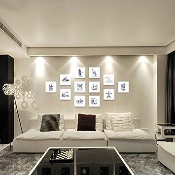 Bilderrahmen*Foto Wandschmuck Wand Wohnzimmer Ideen Aus Der Stanze Foto  Wohnwand, 7 White