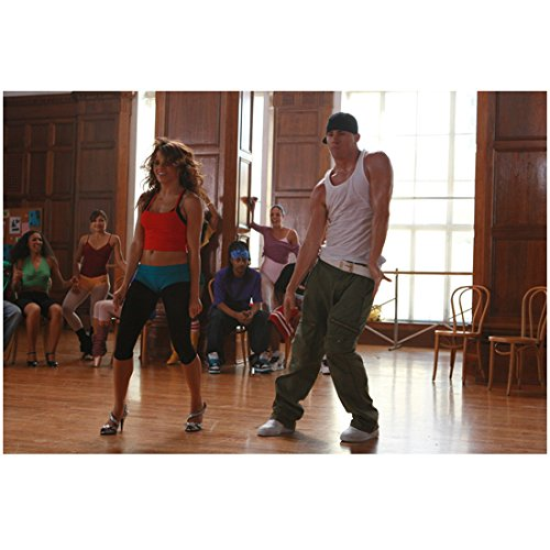 Step Up (2006) 8 Inch x10 Inch Photo Channing Tatum White Tank Top Green Pants & Jenna Dewan Tatum Red, Blue & Black Dancing kn