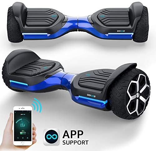 Gyroshoes Hoverboard off road all terrain Self Balancing hoverboard 6.5 T581 Flash Two-Wheel Self Balancing Hoverboard with Bluetooth Speaker and LED Lights for Kids and adults Gift UL 2272 Certified