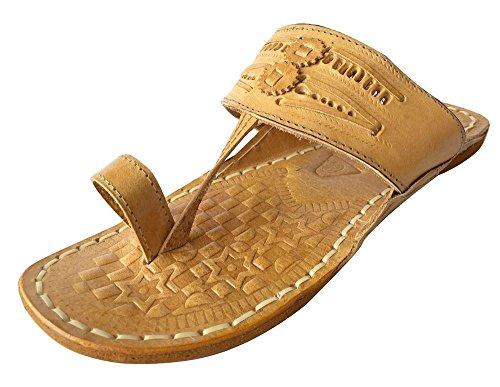 Step n Style Schritt N Style Kolhapuri Vintage Look Leder old style Leder Sandale Schuhe Hippie