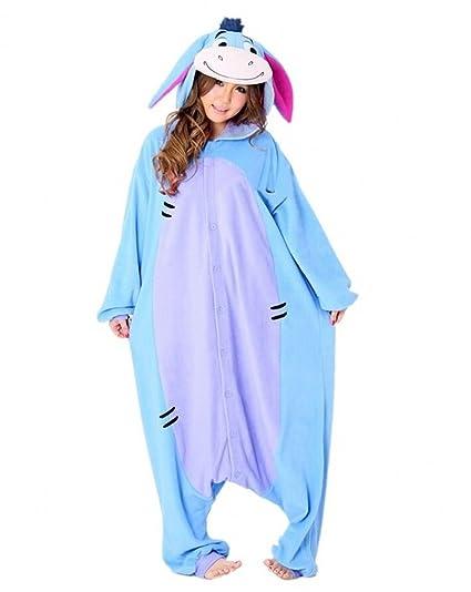 Sweetdresses Adult Unisex Animal Sleepsuit Kigurumi Cosplay Costume Pajamas (Small, Donkey)