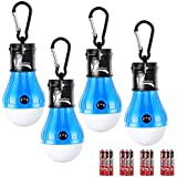 DealBang Compact LED Camping Light Bulbs with Clip Hook (Battery Included), 150 Lumens LED Hanging Tent Light for Camping, Hiking, Backpacking, Fishing, Hurricane, Emergency