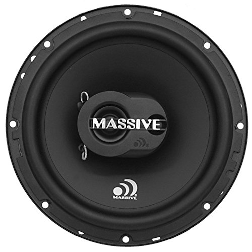 Massive Audio MX65S MX Series Coaxial Speakers. 120 Watts, 4 Ohm, 60w RMS Heavy Duty 6.5 Inch Shallow Mount Car Speakers. The Best Coaxial Speakers System Built for Competition (Sold As Pair)
