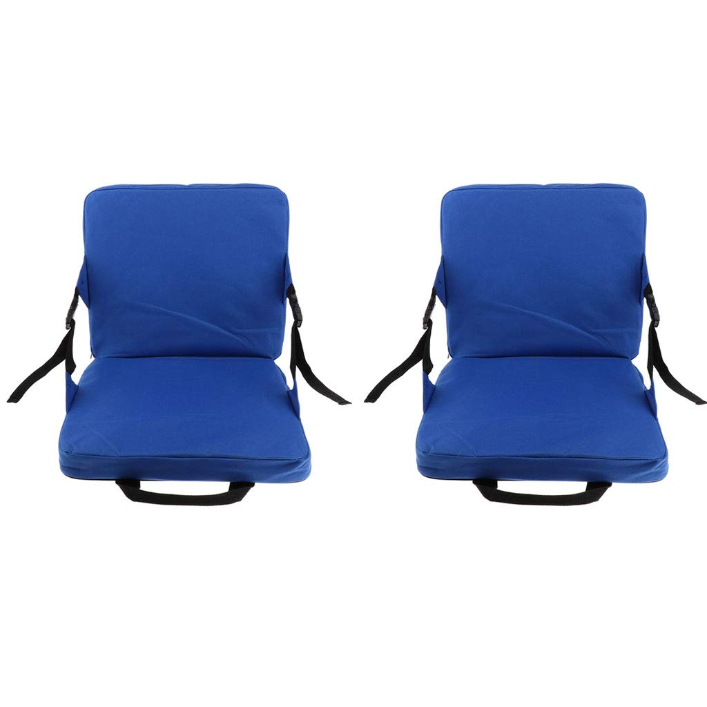 Baosity 2pcs Rocking Chair Cushions Outdoor Folding Fishing Chair Seat /& Back Pad with Foldable Handle Strap for Stadium Padding