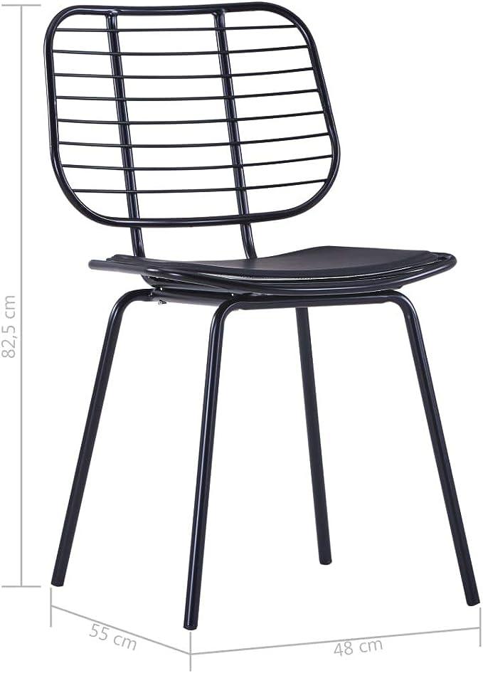 vidaXL 6x Sedie da Pranzo con Cuscini Rimovibili Moderne
