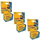 kodak 3 PACK Kodak Ultramax 400 Color Print Film 36 EXP. 35MM DX 400 135-36 (108 PICS)