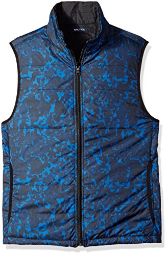 Nautica Men's Reversible Quilted Vest, Estate Blue, L