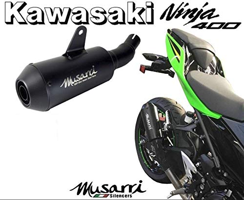 Exhaust 400 (Musarri GP Street Series Slip On Exhaust for 2018+ Kawasaki Ninja 400)