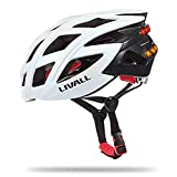 AuMoHall LIVALL BH60 Bike Helmet Smart Bicycle Cycling Helmet with Bluetooth Bling Taillight Hands-free Phone Call SOS Alert - White offers