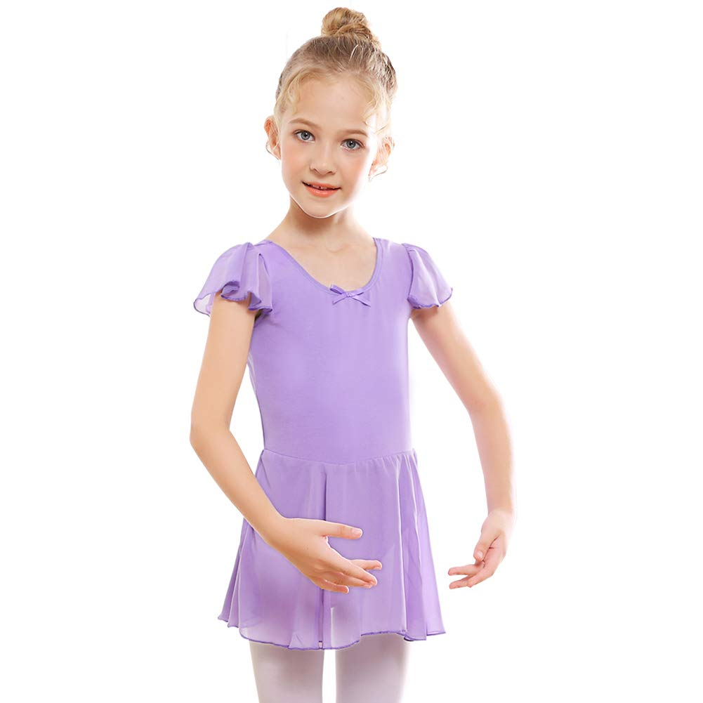 91103e24f Amazon.com  STELLE Girl s Ruffle Sleeve Skirted Leotard
