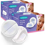 Lansinoh Stay Dry Disposable Nursing Pads, Superior Absorbency, Ultra Soft Leak Protection for Breastfeeding, Non-Toxic Milk Pads, Nursing Essentials, 100 Count (Pack of 2)