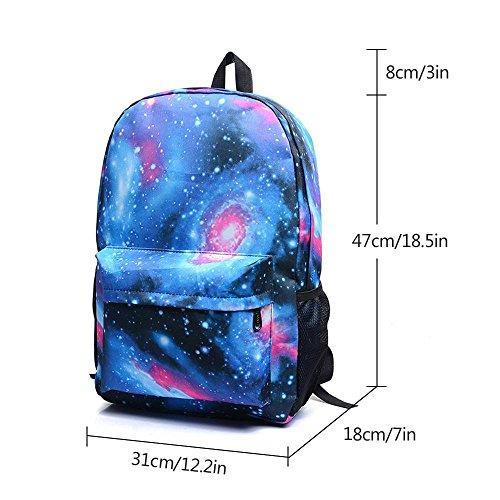 KOBWA Luminous Fortnite Backpack, Fortnite Galaxy School Backpack Rucksack Laptop Book Satchel Hiking Bag for Teen Boys and Girls – DiZiSports Store