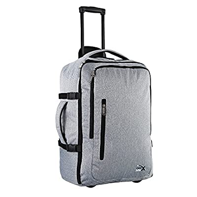 hot sale Cabin Max Malaga Travel Trolley Bag Flight Approved hand luggage cabin (Grey Trolley)