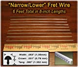 6-foot set of Narrow-Lower Fret Wire for